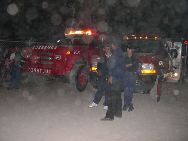 (d) Firefighters in the Mist, I mean Dust